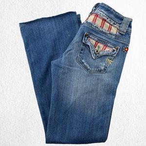 Miss Me OK Corona Jeans Studs Cut Outs Sz 27